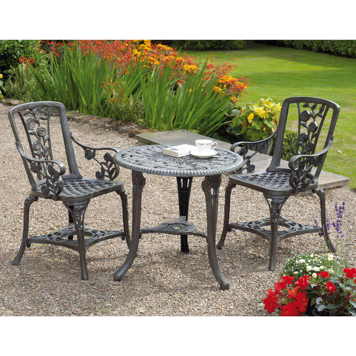 Rose Armchair Patio Set - Antique Bronze