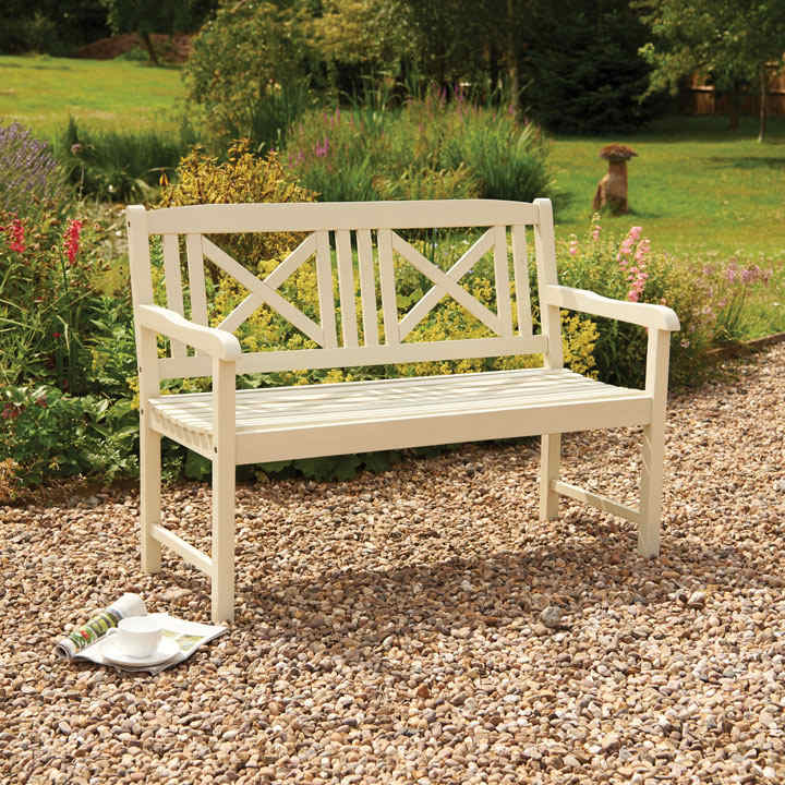 Hardwood Bench - White