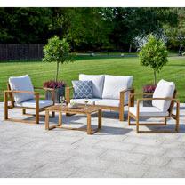 Hardwood Sofa Set - Natural