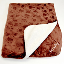 Personalised Pet Throw - Brown
