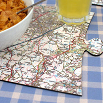 Map Jigsaw Placemats - London