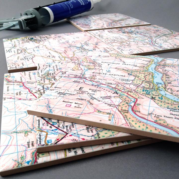 Ceramic Map Tiles - Landranger 20 x 20cm