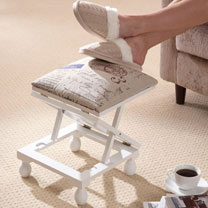 Foot Stool - White