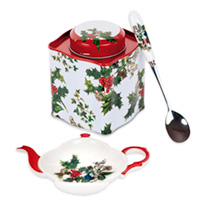 Holly & Ivy Tea Caddy Set