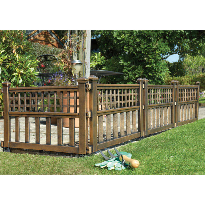 Bronze fence panels 4 garden features garden for Garden fence features