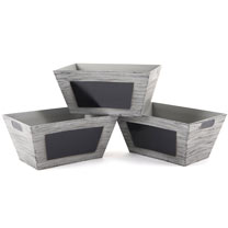 Chalkboard Crate Planters