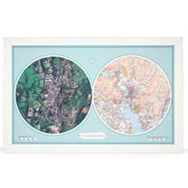 Image of Personalised Double Up - Aero Carto Map