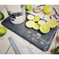 Slate Gin Begin Platter