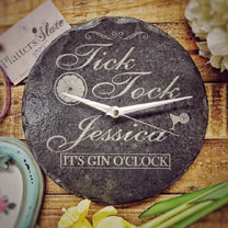 Image of Personalised Slate Gin Clock
