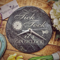 Image of Slate Gin Clock