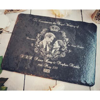 Image of Royal Wedding Slate Plater