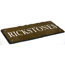 Personalised Long Rectangular House Sign