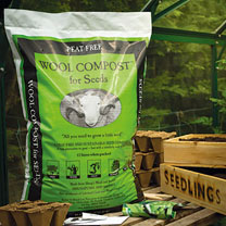 Wool Compost for Seeds - 12 Litre (3 Bags)