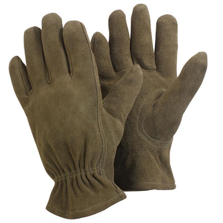 Washable Leather Gloves - Medium Olive Green
