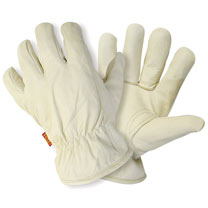Lined Hide Gloves - Men's Large