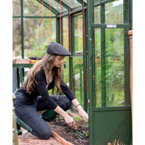 The Head Gardener Black Pinstripe Medium Hat + Pinstripe Bag