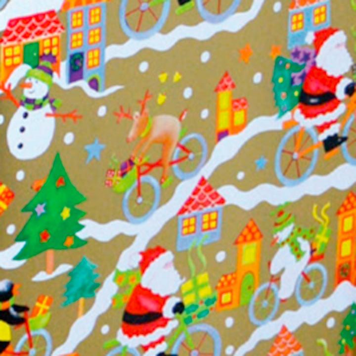 Santa & Snowman Wrap - 3m
