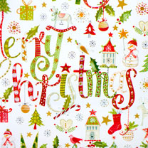 Christmas Script Wrap - 3m
