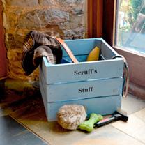 Crate 3 Slats - 36 x 36 x 28cm Woodstain