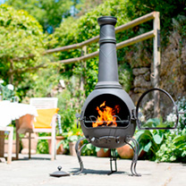 Murcia Chimenea with Grill - Extra Large