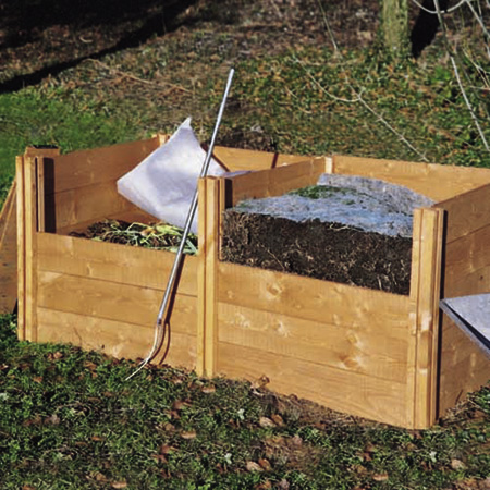 Modular Wooden Compost Bins