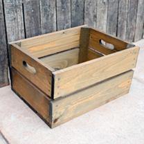 Crate 2 Slats - 26.5 x 36 x 19cm Woodstain