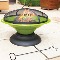 Image of Moda Enamelled Firepit - Lime