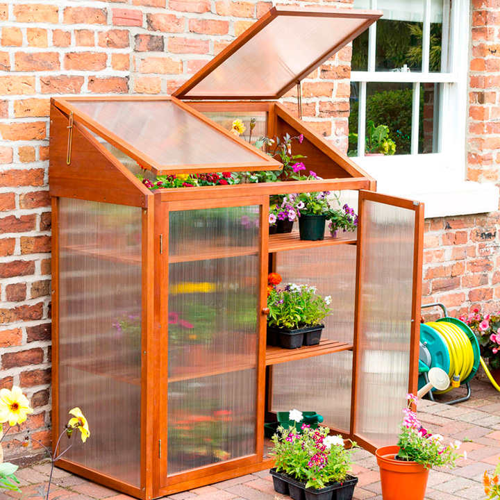 Hardwood Mini Greenhouse