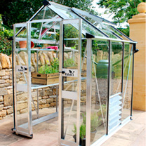 Image of Eden Birdlip 44 Greenhouse - Black Aluminium