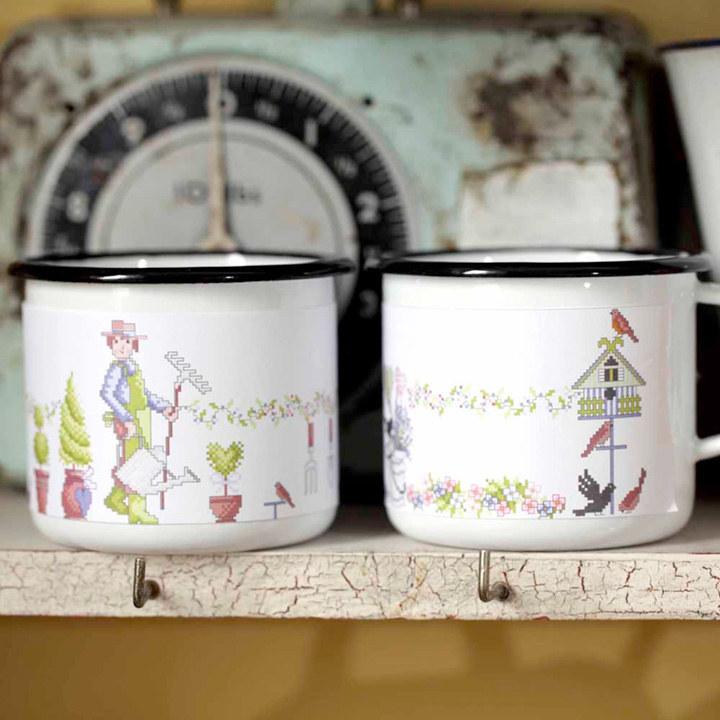 Enamel Gardeners Mugs