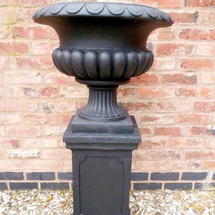Tall Garden Urn Planter and Plinth