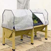 Image of Frame & Polyethylene Cover for the VegTrug 1.8m