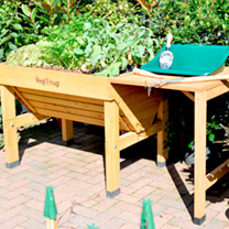 VegTrug Potting Table Wallhugger - Natural