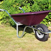 Image of Clipper Wheelbarrow - Burgundy