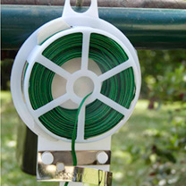 Strong and durable with a built in cutter, you will find this handy gadget useful in the garden. Each roll holds approximatly 20m (65') of wire.