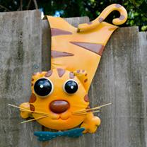 Animal Fence Hanger - Cat