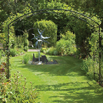 Monet Arch 1.5m with Lattice & Patio Feet
